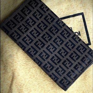 Designer checkbook cover/wallet
